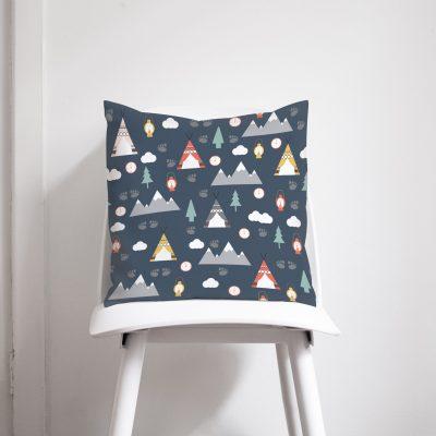 Navy blue camping cushion
