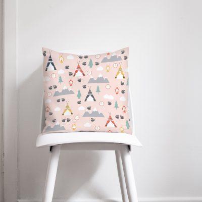 Pink camping cushion