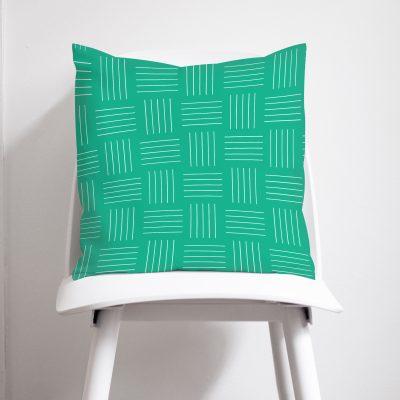 Green Modern Geometric Cushion